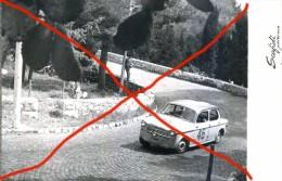 X CORSA AUTOMOBILISTICA IN SALITA SUL MONTE PELLEGRINO ANNI  50 AUTOMOBILISMO SPORT FOTO AGENZIA 13X18 ORIGINALE - Sport