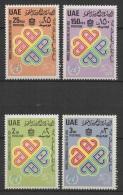 United Arab Emirates (1983)  Yv. 155/58  /  Comunication - World Communication Year - Telekom