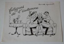PIERRE SOYMIER. Serie Les Fatigués: FATIGUES DE L'AUTOMNE. Publicité Médicale Des LABORATOIRES ROBILLIART - Pubblicitari