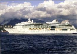 Cruise Ship Royal Caribbean Line The Serenade Of The Seas  Leaving  Vancouver, British Columbia, Canada - Passagiersschepen