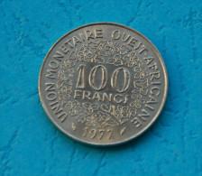 UNION MONETAIRE OUEST-AFRICAINE  100 Francs1977 - Afrique Orientale & Protectorat D'Ouganda