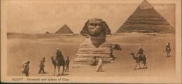 EGYPT EGYPTE PYRAMIDS AND SPHINX 1920 MIGNON-CARD - Sphinx
