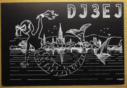 QSL  Karte,  Meerjungfrau, Sirène, Mermaid, Nixe, Radio,Ham, Konstanz 1966 - Non Classés