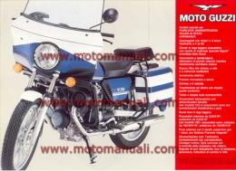 Moto Guzzi V 50 Polizia 500 Depliant Originale Genuine Brochure Prospekt - Motoren