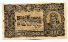 Hongrie Hungary Ungarn 100 Korona 1923 XF - Hungary