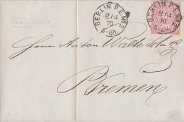 NDP Brief EF Minr.16 Berlin P.E.Nr.2  8.4.70 - Norddeutscher Postbezirk