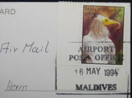 Postcard Maldiven, Malediven, Maldives, Nice Stamp ( Bird ), Turtle,  3x Scan - Maldiven