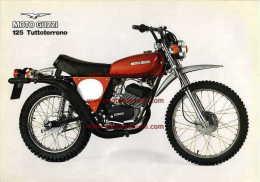 Moto Guzzi 125 Tuttoterreno 1977 Depliant Originale Factory Original Brochure - Engines