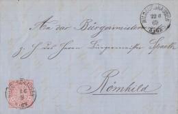 NDP Brief EF Minr.9 Hildburghausen 22.6.69 - Norddeutscher Postbezirk