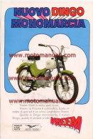 Moto Guzzi Dingo 50 Depliant Originale Factory Original Brochure - Engines