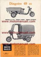 Moto Guzzi DINGOTRE 50 1965 Motocarro Depliant Originale Factory Original Brochure - Motores