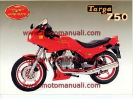 Moto Guzzi V 75 750 Targa Depliant Originale Factory Original Brochure - Moteurs