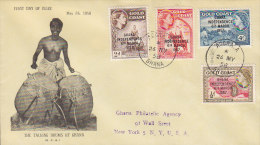 Ghana Ersttags Brief Registered ACCRA FDC Cover 1958 Ghana Independence 6th March 1957 The Talking Drums Of Ghana Cachet - Ghana (1957-...)