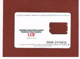 TIM  - GSM SIM - RICARICAT 10^ ED.  7046 BIANCA (3 ATTACCHI, 2 NUMERI) - USATA SENZA CHIP - RIF. CP - Italia