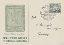 DR Sonderkarte EF Minr.654 Stuttgart 8--16.1.38 SST - Deutschland