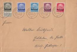 Lothringen Brief Mif Minr.7.8,9,10,11 UR Forbach 18.11.40 - Besetzungen 1938-45