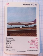 VICKERS VC10 - RAF Royal Air Force, Air Lines, Airlines, Plane Avio GB - Playing Cards