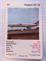 VICKERS VC10 - RAF Royal Air Force, Air Lines, Airlines, Plane Avio GB - Jeux De Cartes