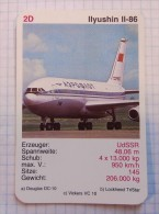 ILYUSHIN IL-86  - AEROFLOT Air Force, Air Lines, Airlines, Plane Avio SSSR (USSR RUSSIA) Soviet Airlines - Playing Cards