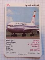 ILYUSHIN IL-86  - AEROFLOT Air Force, Air Lines, Airlines, Plane Avio SSSR (USSR RUSSIA) Soviet Airlines - Jeux De Cartes