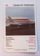 CANADA AIR CHALLENGER  -  Air Force, Air Lines, Airlines, Plane Avio - Playing Cards