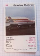CANADA AIR CHALLENGER  -  Air Force, Air Lines, Airlines, Plane Avio - Jeux De Cartes