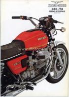 Moto Guzzi 850 T3 1977 Depliant Originale Factory Original Brochure - Motores