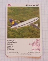 AIRBUS A 310  - LUFTHANSA Air Force BDR, Air Lines, Airlines, Plane Avio - Playing Cards