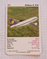 AIRBUS A 310  - LUFTHANSA Air Force BDR, Air Lines, Airlines, Plane Avio - Jeux De Cartes
