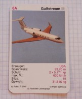 GULFSTREAM III  -  USA Business Jet,  Air Force, Air Lines, Airlines, Plane Avio - Playing Cards