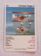 CHRISTEN EAGLE II -  USA  Aircraft  Cylinder Engine,  Air Force, Air Lines, Airlines, Plane Avio - Playing Cards