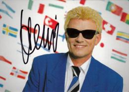 Carte Dédicace  -   Musiker HEINO - Originalautogramm - Autographes
