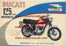 Ducati 125 Bronco 1961 Depliant Originale Factory Original Brochure - Motoren