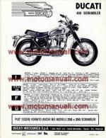 Ducati 450 SCRAMBLER 1970 Depliant Originale Factory Original Brochure - Motoren