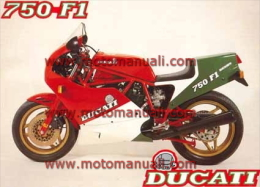 Ducati 750 F1 1986 Depliant Originale Factory Original Brochure - Engines