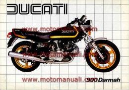 Ducati 900 DARMAH 1981 Depliant Originale Factory Original Brochure - Moteurs