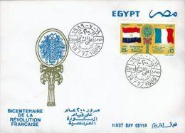 EGYPTE - 1989 - Enveloppe 1e Jour - Bicentenaire Révolution Française - Égypte