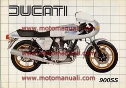 Ducati 900 SS Super Sport 1981 Depliant Originale Factory Original Brochure - Moteurs