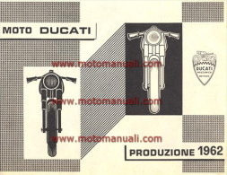 Ducati PRODUZIONE \ PRODUCTION RANGE 1962: Depliant Originale Factory Original Brochure - Motoren