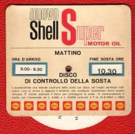SHELL - DISCO ORARIO D'EPOCA - BIFACCIALE: MATTINO E POMERIGGIO