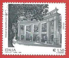 ITALIA REPUBBLICA USATO - 2012 - Terme Di Bonifacio VIII, Fiuggi - € 1,50 - S. 3338 - 2011-...: Usati