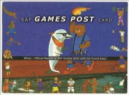 Pakistan Postcard SAF Games 2001 UNused  1Re Post Card - Pakistan