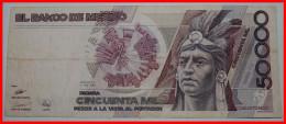 MEXICO 50000 PESOS 1990. UNCOMMON! NO RESERVE! - Mexiko