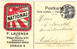 Ruban Suisse / Farbandfabbrik  F. Lauener Zürich 15.4.1919 / Swiss Typewriter Ribbon - Switzerland