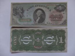 BILLET ESPAGNE - FANTAISIE - PARC D´ATTRACTIONS - PORT AVENTURA - 1 $ U.S. - WASHINGTON - [ 8] Fictifs & Specimens