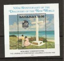 BAHAMAS  - 1992 Discovery Of America S/sheet MNH **   SG 937  Sc 753 - Bahamas (1973-...)