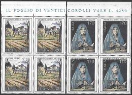 1979 Arte Italiana Quartina  Bdf  ** MNH - 6. 1946-.. Repubblica