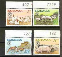 Bahamas  - 1981 Woeld Food Day set of 4 MNH **   SG 598-601  Sc 500-3