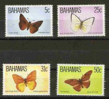 Bahamas  - 1983 Butterflies (Wildlife series 3) set of 4 MNH **   SG 653-6  Sc 539-42