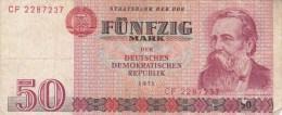 Billets - B1465 -  Allemagne ( DDR)   - Billet  50 Mark 1971 (type, Nature, Valeur, état... Voir 2 Scans) - [ 6] 1949-1990 : GDR - German Dem. Rep.